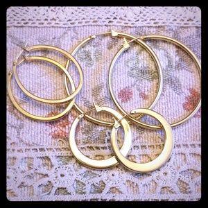 Monet gold earring lot